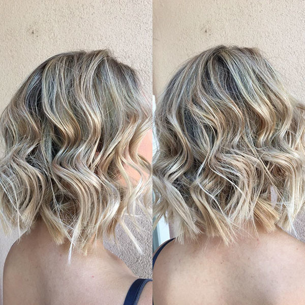 Blonde-Short-Hair Popular Short Wavy Hairstyles 2019