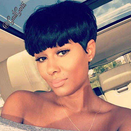 Bowl-Pixie-Cut-Black-Hair Best Short Pixie Hairstyles for Black Women 2018 – 2019
