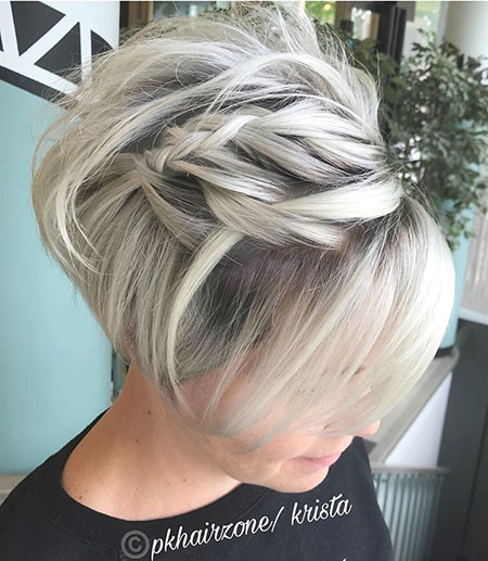 Braided-Bob-Haircut Short Bob Haircuts 2019