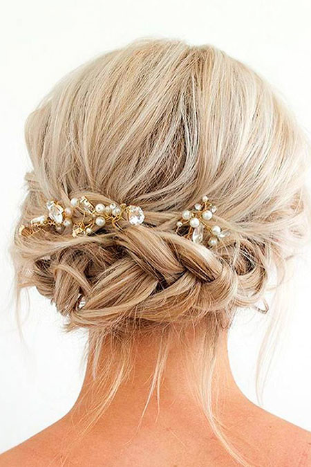 Bridal-Braided-Hair Wedding Hairstyles for Short Hair