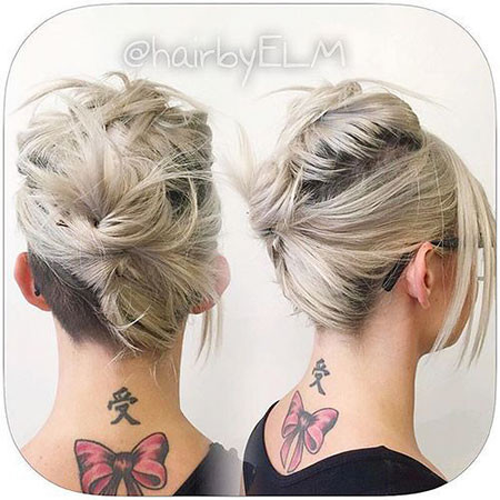 Casual-Updos-for-Medium-Hair Upstyles for Short Hair