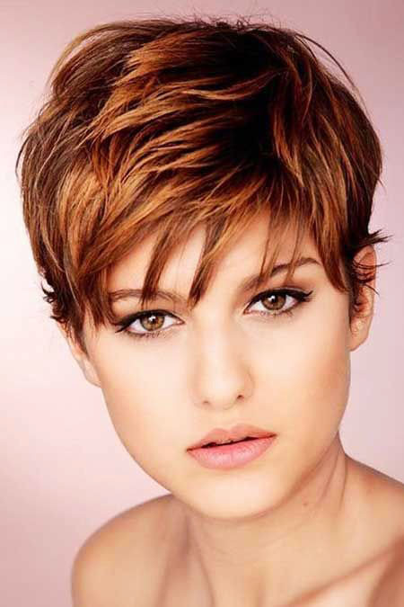 Choppy-Hairstyle Hair Color Ideas for Short Haircuts