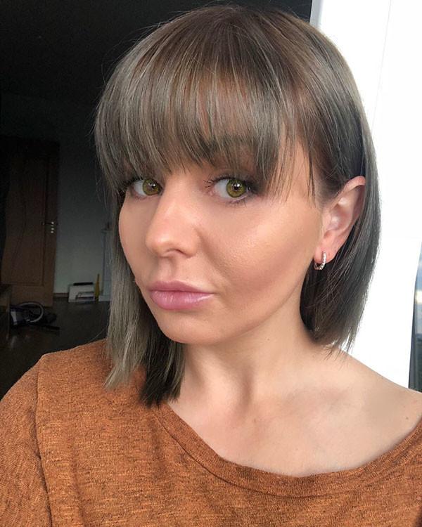 Cute-Bob-Hair-2 Short Hairstyles with Bangs 2019