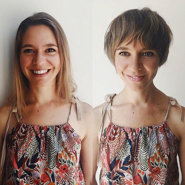 Cute-Pixie-Cut-4 Short Hairstyles with Bangs 2019