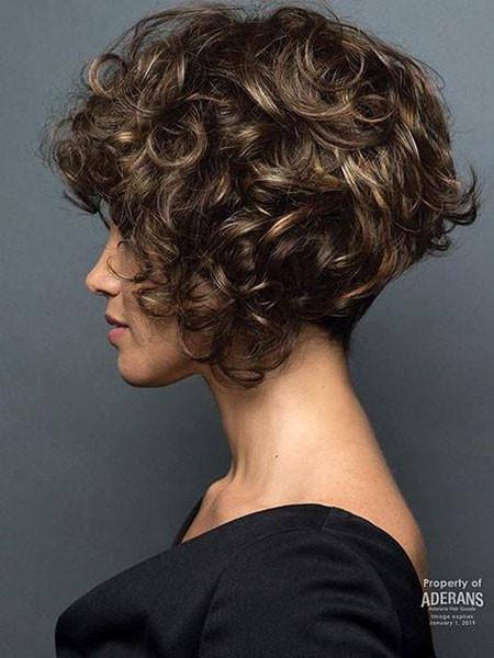 Cute-Short-Curly-Hair Popular Short Curly Hairstyles 2018 – 2019