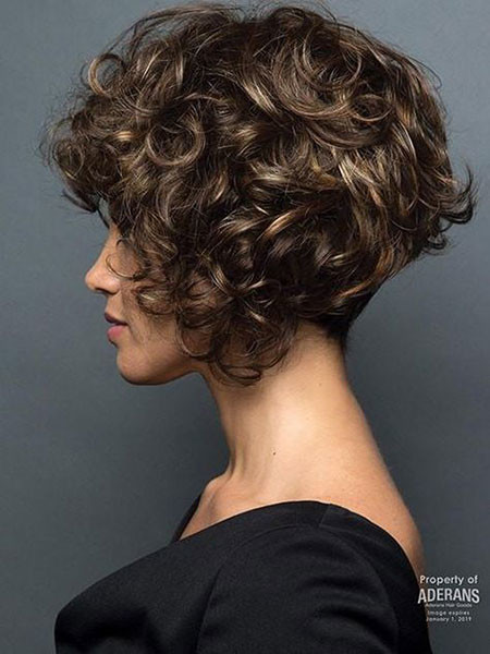 Cute-Short-Curly-Hair Popular Short Curly Hairstyles 2018 – 2019