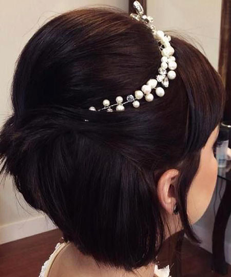 Cute-Short-Hair-Updo Wedding Hairstyles for Short Hair