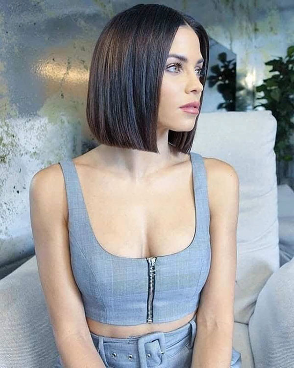 Cute-Short-Straight-Hairstyle Short Straight Hairstyles 2019