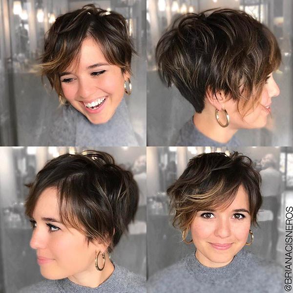 Cute-Thin-Hair Short Hairstyles with Bangs 2019