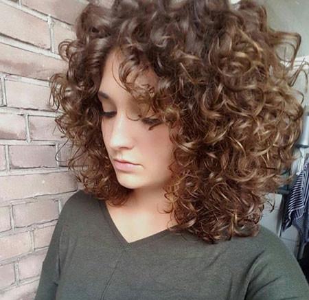 Dark-Blonde-Curly-Hair Popular Short Curly Hairstyles 2018 – 2019