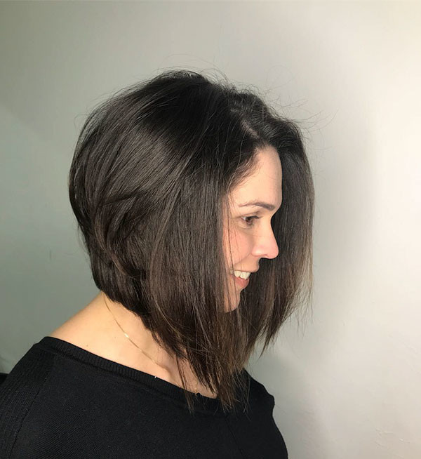 Dark-Bob-Hairstyle-1 Best New Bob Hairstyles 2019