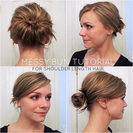Female-hairstyle Hair Buns for Short Hair