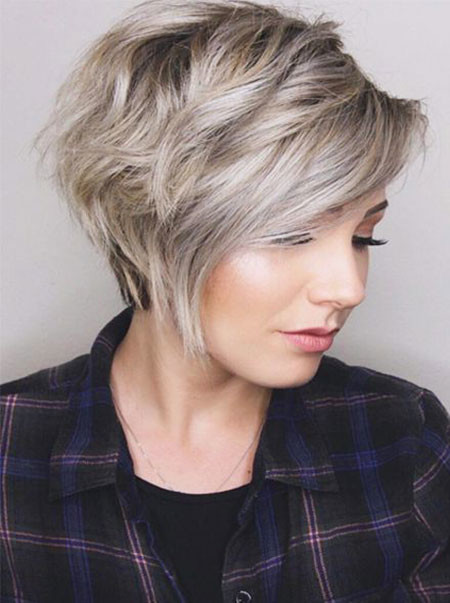 Hair-with-Bangs Trendy Short Hairstyles 2019
