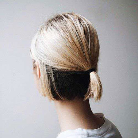 Half-Ponytail-for-Short-Bob Ponytail Hairstyles for Short Hair