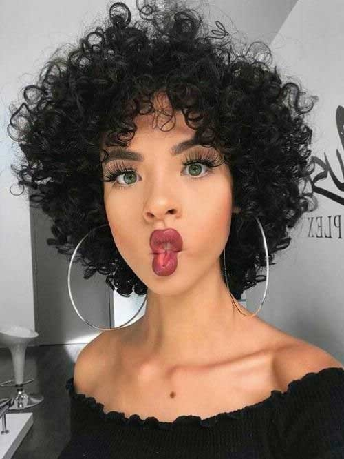Kinky-Curls-Short-Hair Best Short Haircuts for 2018-2019