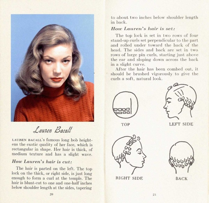 Lauren-Bacall-Hairstyle How to achieve the Lauren Bacall Hairstyle