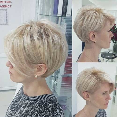 Layered-Blonde-Short-Hair Best Short Haircuts for 2018-2019