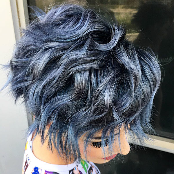 Layered-Curly-Pixie-Cut Best Pixie Cut 2019