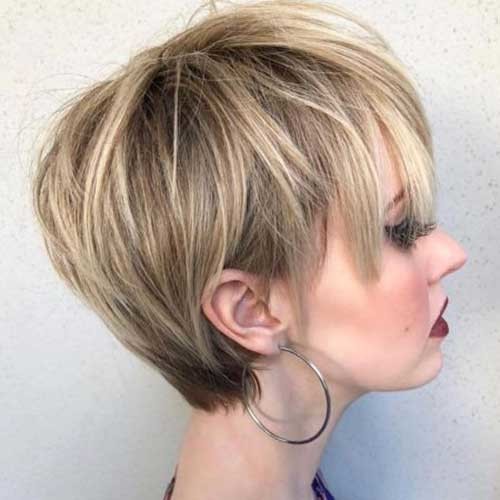 Long-Pixie-Cut-for-Fine-Blonde-Hair Best Short Haircuts for 2018-2019