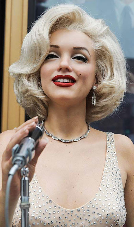 Marylin-Monroe-Blonde-Hair 1960's Short Hairstyles