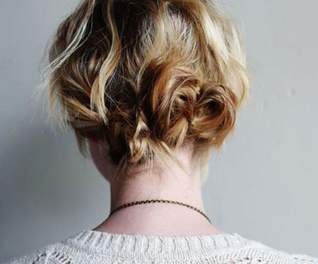 Messy-Updo-Hairstyle Upstyles for Short Hair