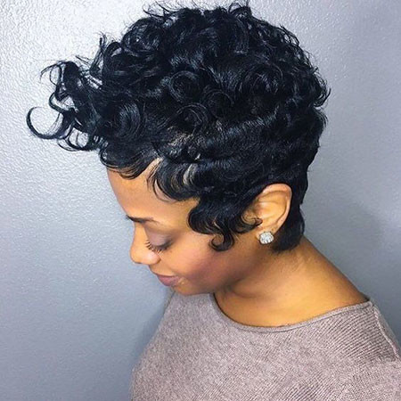 Natural-Curly-Pixie-Hair Best Short Pixie Hairstyles for Black Women 2018 – 2019