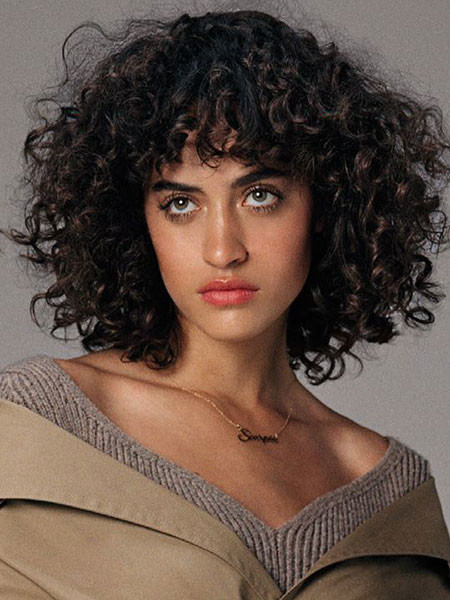 Naturally-Curly-Bob Popular Short Curly Hairstyles 2018 – 2019