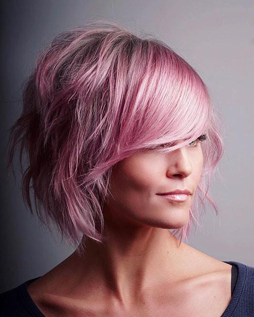 Pink-Hair Short Layered Haircuts 2018 – 2019