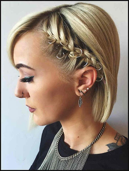 Prom-Hairstyles-for-Short-Hair-with-Braids Popular Short Haircuts 2018 – 2019