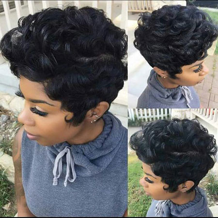 Quick-Weave-Short-Hairstyle Best Short Pixie Hairstyles for Black Women 2018 – 2019