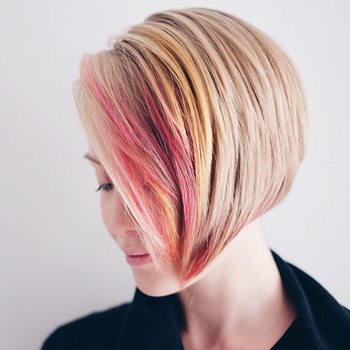 Short-Blonde-Bob-Hair Popular Short Haircuts 2018 – 2019