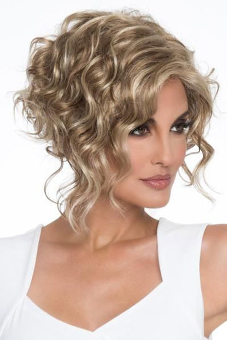 Short-Blonde-Curly-Hair Popular Short Curly Hairstyles 2018 – 2019