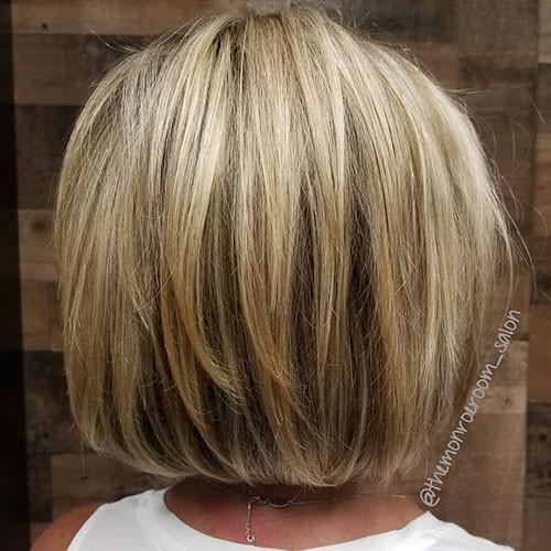 Short-Blonde-Highlights-Hair Short Layered Haircuts 2018 – 2019