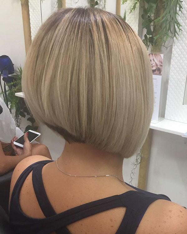 Short-Bob-Hairstyle-Back-View Best New Bob Hairstyles 2019