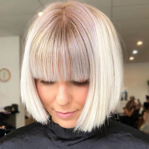 Short-Bob-Hairstyles Short Hairstyles with Bangs 2019
