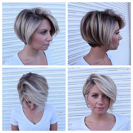Short-Bob-with-Bangs Short Bob Haircuts 2019