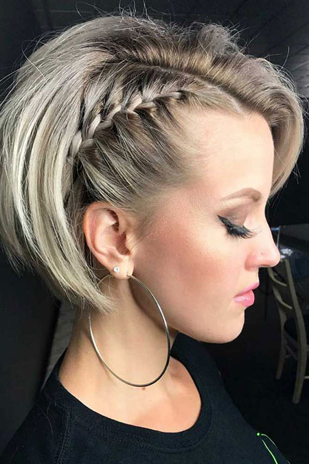 Short-Braid-Hairstyles Popular Short Haircuts 2018 – 2019