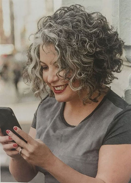 Short-Curly-Hair-Older-Women Popular Short Curly Hairstyles 2018 – 2019