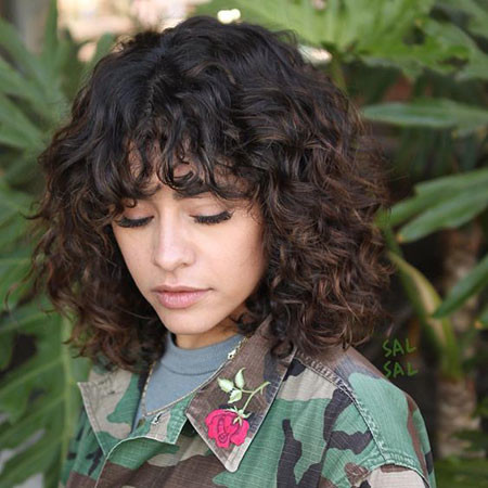 Short-Curly-Hairstyles-Bangs Popular Short Curly Hairstyles 2018 – 2019