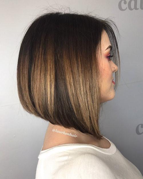 Short-Dark-Bob-Hairstyle Popular Short Haircuts 2018 – 2019