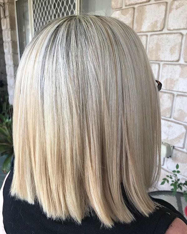Short-Medium-Straight-Hair Short Straight Hairstyles 2019