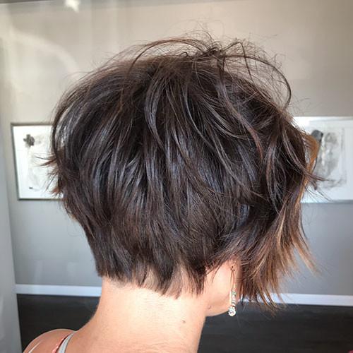 Short-Messy-Hair Short Layered Haircuts 2018 – 2019
