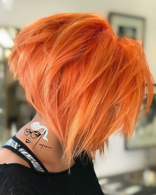 Short-Orange-Hair-Color Short Layered Haircuts 2018 – 2019