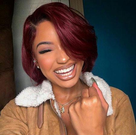 Short-Red-Hair-1 Best Short Hairstyles for Black Women 2018 – 2019