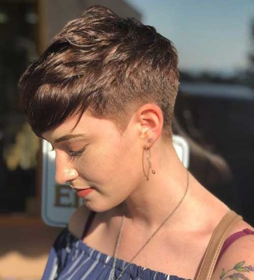 Short-Side-Long-Top-Hair-for-Girls Best Short Haircuts for 2018-2019