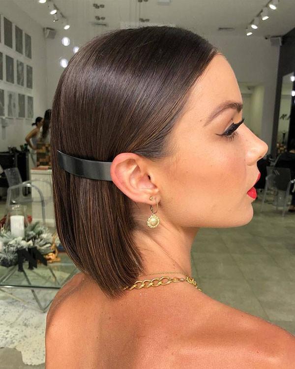 Short-Straight-Hair-Wedding-Styles Short Straight Hairstyles 2019