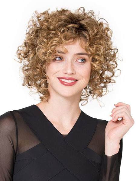 Short-To-Medium-Curly-Hair Popular Short Curly Hairstyles 2018 – 2019