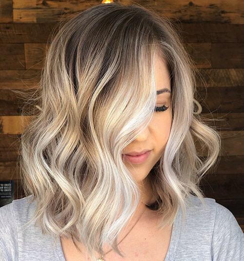 Short-Wavy-Ombre-Haircut Popular Short Haircuts 2018 – 2019