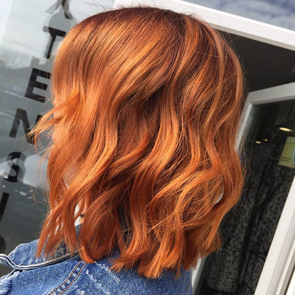Short-Wavy-Red-Hair Popular Short Wavy Hairstyles 2019