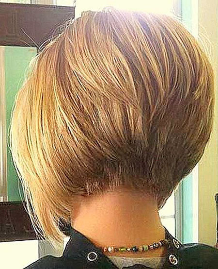 Stacked-Bob Short Inverted Bob Hairstyles
